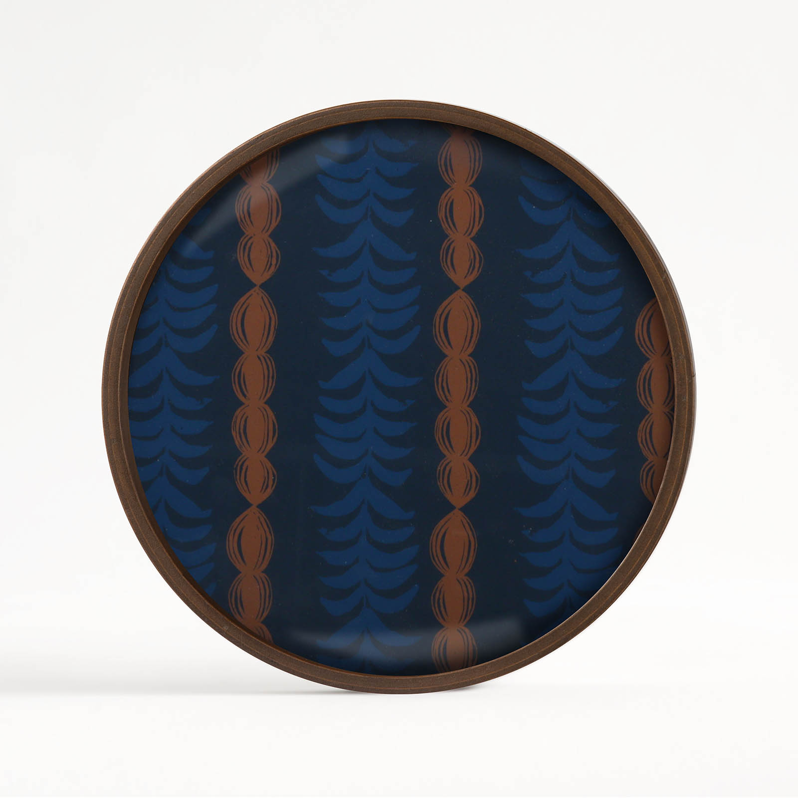 ETHNICRAFTRoyal Palm glass valet tray - round(L)로얄 팜 글래스 발렛 트레이 - 라운드(L)