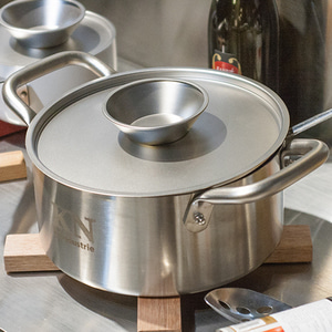 KN INDUSTRIE DOUBLE HANDLE POT - 양수냄비(STAINLESS STEEL)