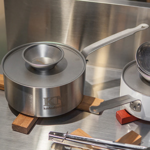 KN INDUSTRIE SINGLE HANDLE POT(MEDIUM) - 편수냄비(STAINLESS STEEL)