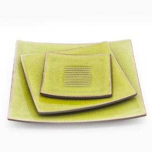 JARS SQUARE PLATE (GREEN)