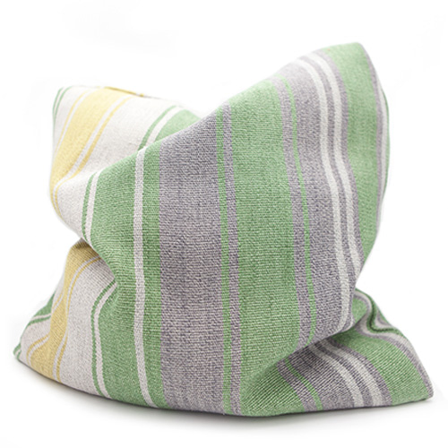 Designers Guild Green& Yellow  Stripe Cushion