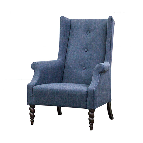 Zacc collection by SEDEC Wing Chair (Navy) 윙 체어 (네이비)